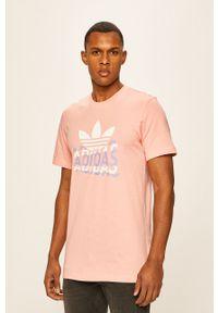 T-shirt adidas Originals na co dzień, z nadrukiem, z okrągłym kołnierzem, casualowy