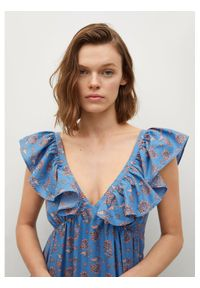 mango - Mango Sukienka codzienna Sunny 87047652 Niebieski Regular Fit. Okazja: na co dzień. Kolor: niebieski. Typ sukienki: proste. Styl: casual