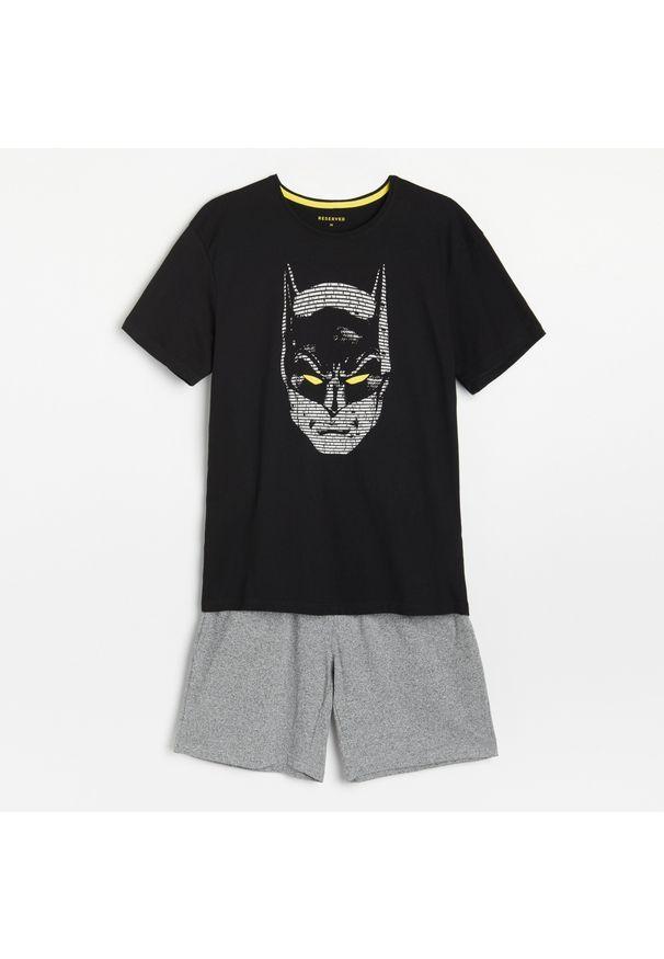 Reserved - Dwuczęściowa piżama Batman - Czarny. Kolor: czarny. Wzór: motyw z bajki