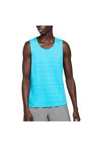 Koszulka treningowa męska Nike Dri-FIT Miler Tank CU5982. Materiał: materiał, poliester. Długość rękawa: bez rękawów. Technologia: Dri-Fit (Nike). Sport: fitness, bieganie
