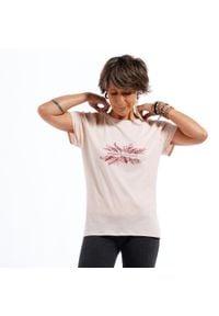 KIMJALY - Koszulka do łagodnej jogi damska. Kolor: różowy. Materiał: materiał, lyocell, bawełna, elastan. Długość: długie. Sport: joga i pilates