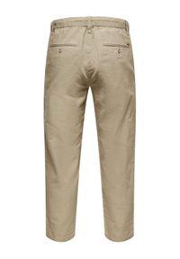Only & Sons - ONLY & SONS Spodnie materiałowe Leo 22013002 Beżowy Regular Fit. Kolor: beżowy. Materiał: materiał #5