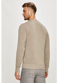 TOMMY HILFIGER - Tommy Hilfiger - Sweter. Okazja: na co dzień. Kolor: szary. Materiał: bawełna. Długość rękawa: długi rękaw. Długość: długie. Styl: casual