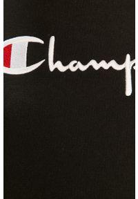 Czarna bluza Champion na co dzień, z kapturem, z długim rękawem, długa