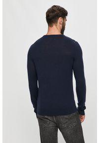 Niebieski sweter Napapijri na co dzień, z długim rękawem, długi