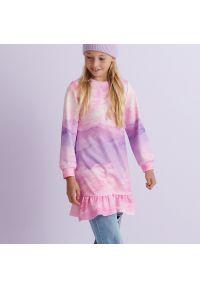 Reserved - Kolorowa sukienka - Wielobarwny. Wzór: kolorowy