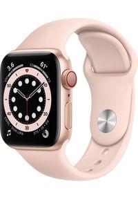 APPLE - Smartwatch Apple Watch Series 6 GPS + Cellular 40mm Gold Alu Rose Sport Różowy (M06N3WB/A). Rodzaj zegarka: smartwatch. Kolor: różowy. Styl: sportowy