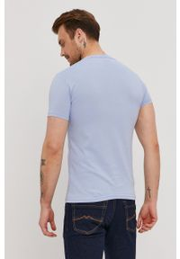 Pepe Jeans - T-shirt Morrison. Okazja: na co dzień. Kolor: niebieski. Materiał: dzianina. Wzór: nadruk. Styl: casual