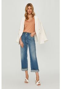 Niebieskie jeansy loose fit Elisabetta Franchi