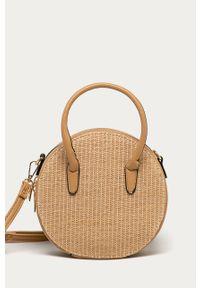 Beżowa torba plażowa ANSWEAR na ramię, mała, wakacyjna