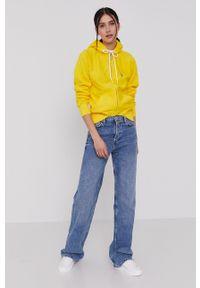 Polo Ralph Lauren - Bluza. Okazja: na co dzień. Typ kołnierza: polo. Kolor: żółty. Styl: casual #4