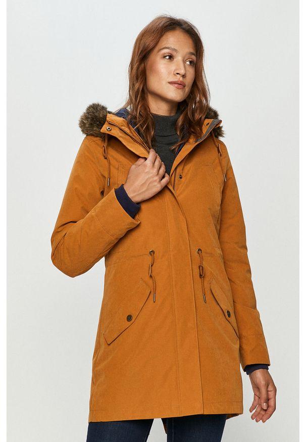 Pomarańczowa kurtka Roxy z kapturem, casualowa
