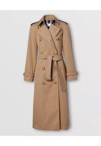 Beżowy płaszcz Burberry