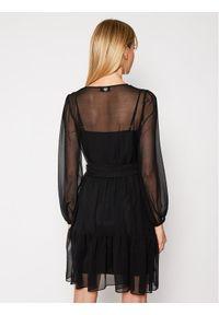 TwinSet Sukienka koktajlowa 202TP2570 Czarny Regular Fit. Kolor: czarny. Styl: wizytowy
