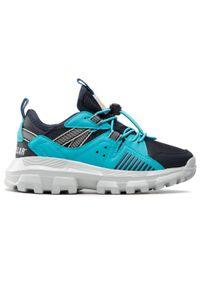 CATerpillar - Sneakersy CATERPILLAR - Raider CK164847 Navy. Okazja: na co dzień. Kolor: niebieski. Materiał: skóra, materiał. Szerokość cholewki: normalna. Styl: casual