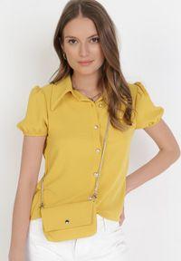 Born2be - Żółta Koszula Z Torebką Orphelis. Kolor: żółty