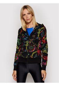 Versace Jeans Couture Bluza 71HAI306 Czarny Regular Fit. Typ kołnierza: kołnierzyk włoski. Kolor: czarny