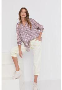 Wielokolorowa koszula Answear Lab długa, z długim rękawem, wakacyjna