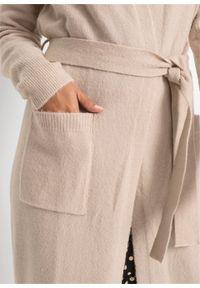 Beżowy sweter bonprix melanż, długi