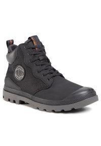 Czarne buty zimowe Palladium z cholewką
