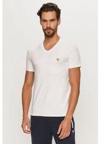 Biały t-shirt Guess Jeans na co dzień, casualowy