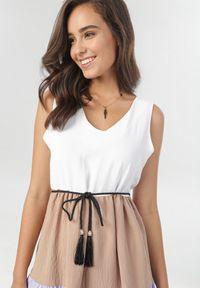 Biała sukienka Born2be