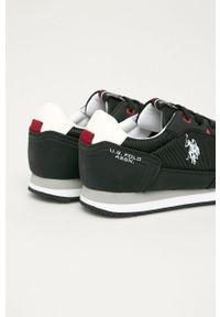 U.S. Polo Assn. - Buty. Nosek buta: okrągły. Zapięcie: sznurówki. Kolor: czarny. Materiał: syntetyk, skóra ekologiczna, guma, materiał. Szerokość cholewki: normalna #4