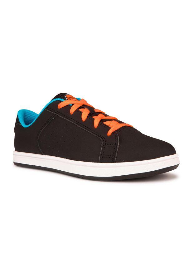 OXELO - Buty skate CRUSH 100 dla dzieci. Kolor: czarny, wielokolorowy, czerwony, różowy. Materiał: kauczuk. Szerokość cholewki: normalna. Sport: skateboard