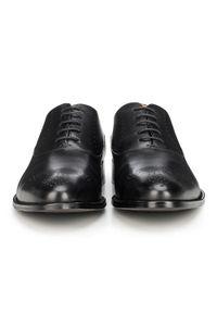 Czarne buty wizytowe Wittchen eleganckie, z aplikacjami, na wiosnę