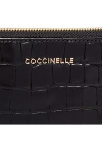 Czarna kopertówka Coccinelle skórzana, klasyczna