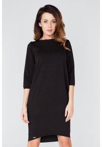 Czarna sukienka dresowa Tessita