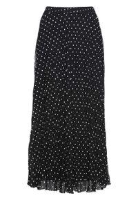 Czarna spódnica bonprix w kropki