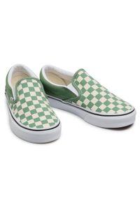 Vans - Tenisówki VANS - Classic Slip-On VN0A33TB43B1 (Checkerboard)Shale/Trwht. Okazja: na co dzień. Zapięcie: bez zapięcia. Kolor: zielony. Materiał: materiał. Szerokość cholewki: normalna. Styl: casual. Model: Vans Classic