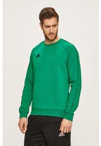 adidas Performance - Bluza. Okazja: na co dzień. Kolor: zielony. Materiał: dzianina. Długość rękawa: raglanowy rękaw. Wzór: gładki. Styl: casual