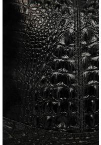 Czarna shopperka Answear Lab wakacyjna, na ramię, duża, skórzana