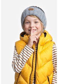Szara czapka PaMaMi na zimę