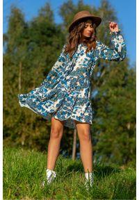 Niebieska sukienka Fobya boho