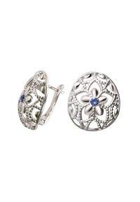 Polcarat Design - Srebrne kolczyki z kryształami Swarovski K3 2021. Materiał: srebrne. Kolor: srebrny. Kamień szlachetny: kryształ