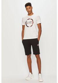 Biały t-shirt Colmar z nadrukiem, na co dzień, casualowy