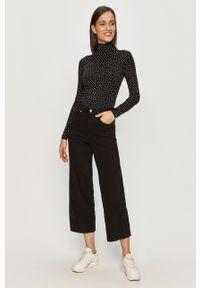 Czarne jeansy bootcut TALLY WEIJL w kolorowe wzory