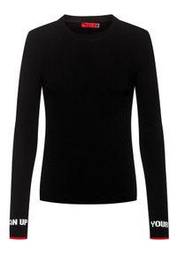 Czarny sweter klasyczny Hugo