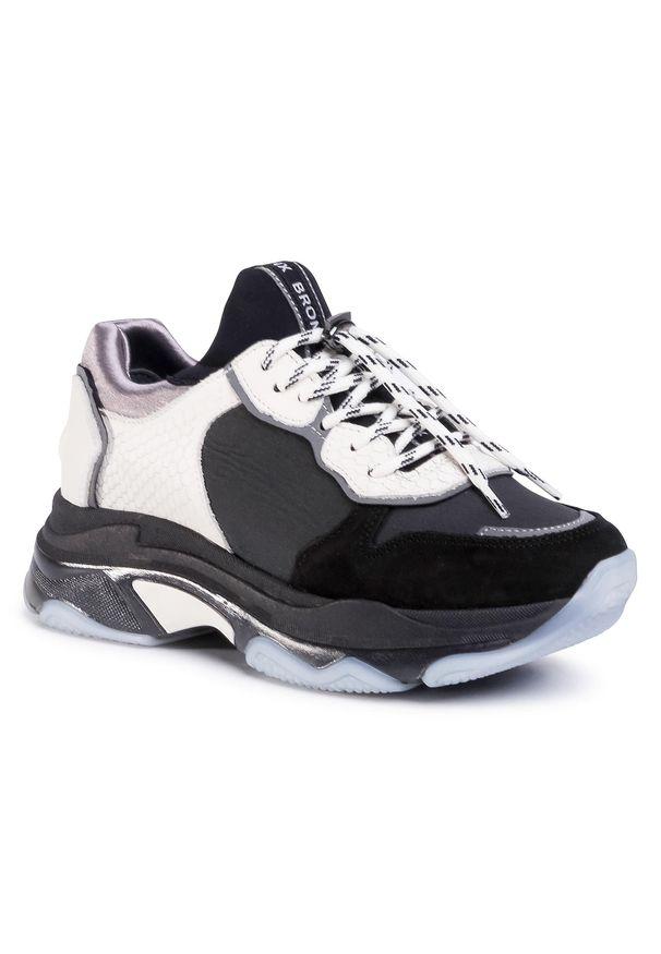 Czarne buty sportowe Bronx z cholewką, na co dzień