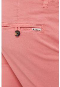 Różowe szorty Pepe Jeans na co dzień, gładkie