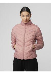 Różowa kurtka zimowa 4f ze stójką
