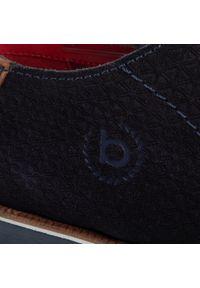 Niebieskie półbuty Bugatti z cholewką, klasyczne