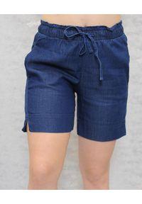 Deha - DEHA - Granatowe szorty. Kolor: niebieski. Materiał: jeans, materiał. Styl: sportowy