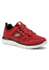 Czerwone buty treningowe skechers