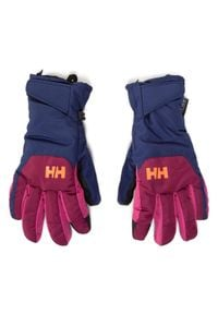 Helly Hansen - Rękawice narciarskie HELLY HANSEN - Jr Swift Ht Glove 67352-657 Purple Potion. Kolor: niebieski. Materiał: poliester, skóra ekologiczna, materiał