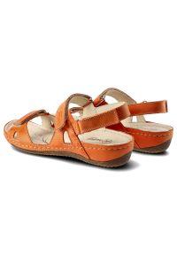 Pomarańczowe sandały Helios
