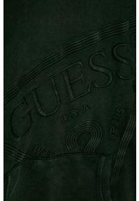 Czarna bluza Guess Jeans z kapturem, casualowa